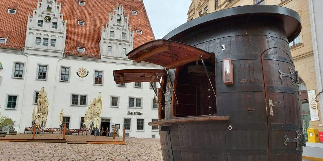 Weinpavillon auf dem Marktplatz Meissen